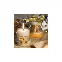 CANDLE GIFT WEDDING 50 ANNIVERSARY WITH BOX