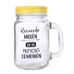 PITCHER GLASS FIRST COMMUNION IN A PHRASE I REMEMBER MOLON - YELLOW