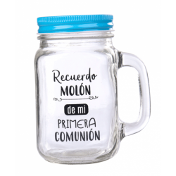 PITCHER GLASS FIRST COMMUNION IN A PHRASE I REMEMBER MOLON – BLUE