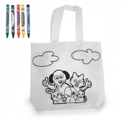 BAGS COLORING WITH CRAYONS OF COLORS FOR WEDDINGS - BAPTISMS - COMMUNIONS
