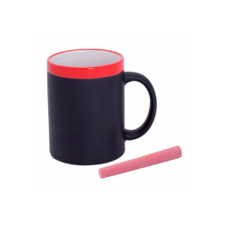 CUP SLATE CERAMIC IN BOX SINGLE RED