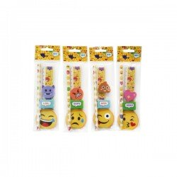 SET 5 PCS STATIONERY EMOTICONS GIFT