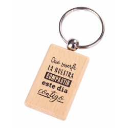 "KEYCHAIN WOOD ""LUCKY THE OUR"""