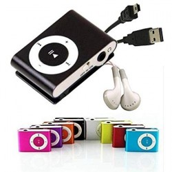 LOTE 10 MP3 PLAYER CLIP COLORES + AURICULARES + CABLE USB