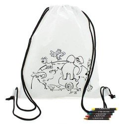 BACKPACK WITH CRAYONS JUNGLE