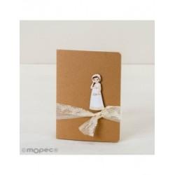 Llibre petit adornat figura nena Comunió, romàntic