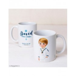 Cup Communion ware sailor hand in pocket gift box