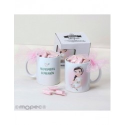 Cup Communion girl romantic 7caramelos in gift box
