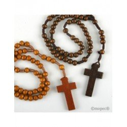 Rosary wood in two tones of brown, min.5