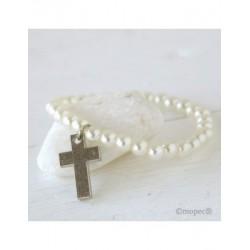 Bracelet-beads and cross, min. 15