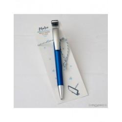 Boli azulón para móvil con borra huellas en punto de libro
