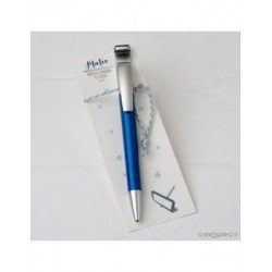 Pen blue for mobile with erases fingerprints on point book
