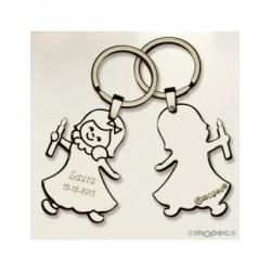 Metal key ring girl velita Communion