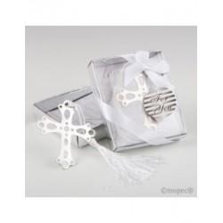 Punt de llibre de la creu en caixa de regal, 7,5x9x2cm (la caixa)