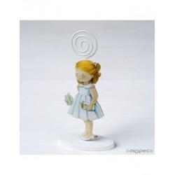 Portafoto metal girl dress white 14cm, min. 15