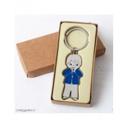 Keychain child communion jacket blue box kraft
