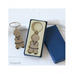 Keychain child Communion sailor 5,7 cm in gift box
