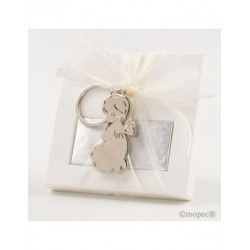 Key ring metal Angel kneeling case 2nap.