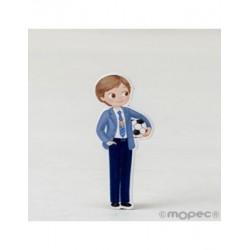 La Figure 2D adhésif enfant Communion avec le ballon 5,5 cm min20