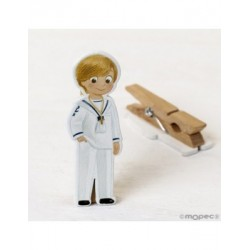 Clamp Communion wooden sailor 1,9x5,5cm.min.20