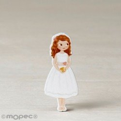 Figure 2D adhes. girl Communion dress, short, 5.5 cm, min.20