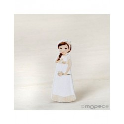 Figure 2D adhesive girl, Communion, romantic, 5,5 cm,min.20