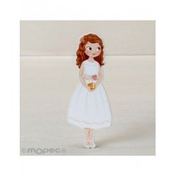Figure 2D adhesive girl Communion dress short,11cm. min.15