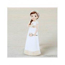 Figure 2D adhesive girl, Communion, romantic, 11cm. min.15