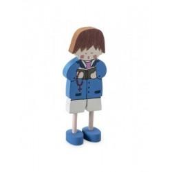 Niño madera cantando 12cm min.20 P.GOLOSO