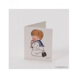 Card booklet Communion boy kneeling pºX100uds.P.SWEET