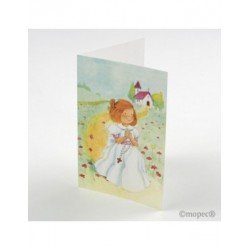 Portafoto girl Communion rosary 11,5x17cm min25