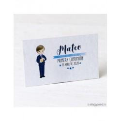 Card. precut Communion boy suit and bible 30xhj.,min.5