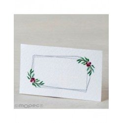 Card. pre-cut double frame and flowers 30xhj.,min.5