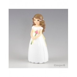 Figure pie girl Communion with lily 17cm, min.2