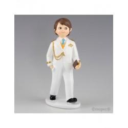 Figura para pastel Comunión Almirante blanco 17cm, min.2