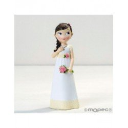 Figure girl Communion dress romantic, 16,5 cm