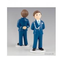 Figura pastís de Comunió Almirall blau 17cm, min.2