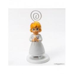 Photo holder girl Communion blonde 10,5 cm, min15