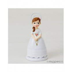Photo holder resin Communion girl with rosary,11cm. min.10