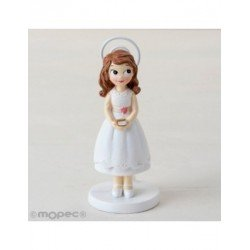 Photo holder resin girl Communion dress short 11cm. , min.6