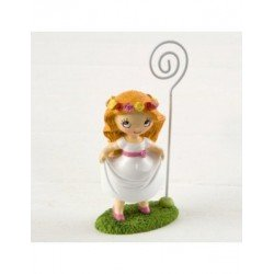 Photo holder girl Communion in prairie 11cm.min.6
