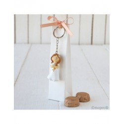 Case keychain girl Communion and dove 2 chocolates