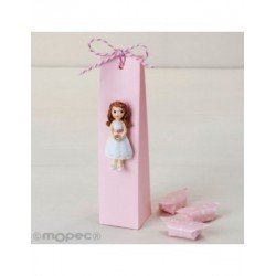 Magnet girl Communion dress short with 3 candies