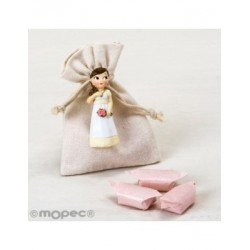 Magnet girl Communion romantic in bag, 3caramelos