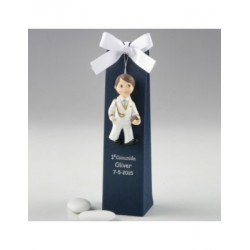 Magnet Communion child admiral white blue box, 3 sweets