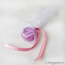 Embellishment 1bombón mauve, pink ribbon ,min.6*