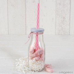Vial glass cane pink/chip white 12caram. min8