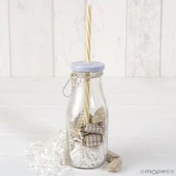 Vial de vidre de la canya de color beix/xip blanc 12caram.,min.8