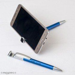 Pen-mobile holder-blue with clears-fingerprint screen