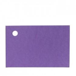 Tarjetas lila 4,5x3cm precio de 100u.